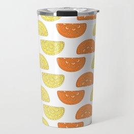 Orange Slices Pattern Travel Mug