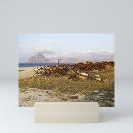 Sicilian Abandoned Port with Anchors Mini Art Print