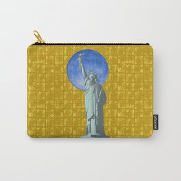 Statue of Liberty & the Moon on Gold-leaf Screen Carry-All Pouch