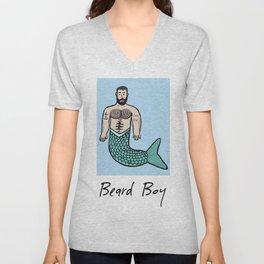 Beard Boy Merman: Troy Unisex V-Neck