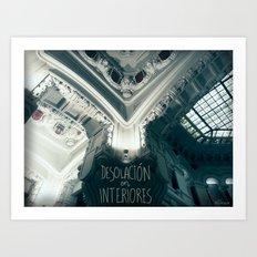Desolación en interiores Art Print