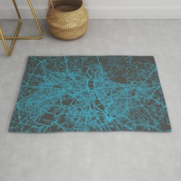New Delhi Map blue Rug