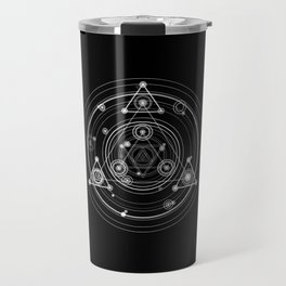 Dark and mysterious wicca style sacred geometry Travel Mug