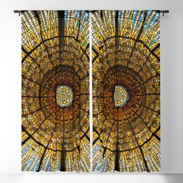 Barcelona glass window stained glass Blackout Curtain