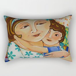 """Me, My Son And An Old Blanket"" Rectangular Pillow"