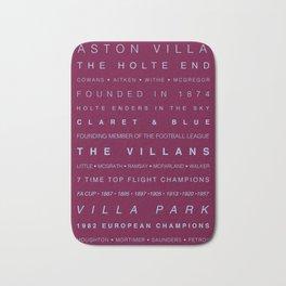 Aston Villa Word Art Bath Mat