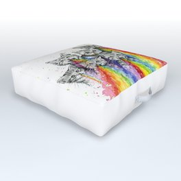 Kittens Puking Rainbows Outdoor Floor Cushion