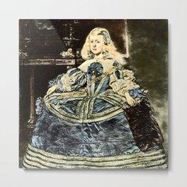 Velazquez's Portrait of Infanta Margarita Teresa in Blue Dress Metal Print