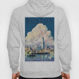 Vintage Boston Massachusetts Travel Hoody