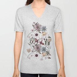 colorful floral pattern II Unisex V-Neck