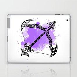 Zodiac Zentangle - Sagittarius Laptop & iPad Skin