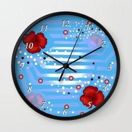 Grove poppies Wall Clock