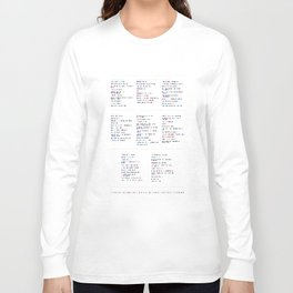Death Cab for Cutie Discography - Music in Colour Code Long Sleeve T-shirt