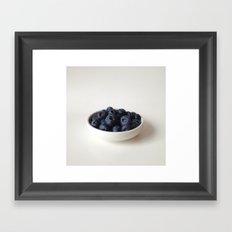Fresh Blueberries (version 2) Framed Art Print
