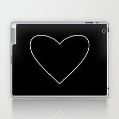 Black Heart Laptop & iPad Skin