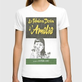 AMELIE hand drawn movie poster in pencil T-shirt