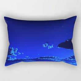 Azure Horizon Rectangular Pillow