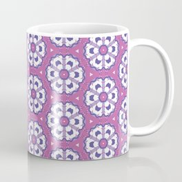 Purple geometric floral pattern Coffee Mug