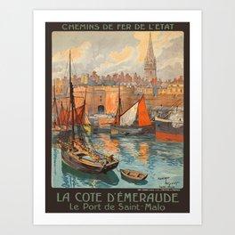 Vintage poster - France Art Print