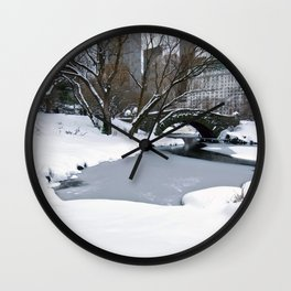 wWhite Central Park2 Wall Clock