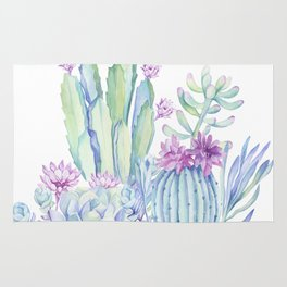 Mixed Cacti White #society6 #buyart Rug