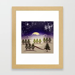 Background christmas snow figure Framed Art Print
