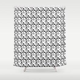 Lattice Pattern  Shower Curtain