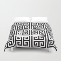 greek Duvet Covers featuring Greek Print by I Love Decor