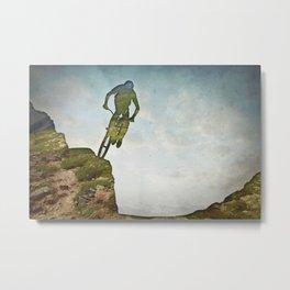 Biking Off Road Metal Print