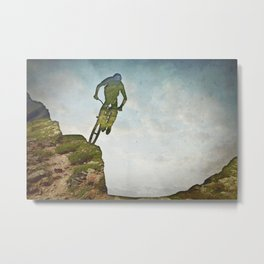 Biking Off Road Metal Print