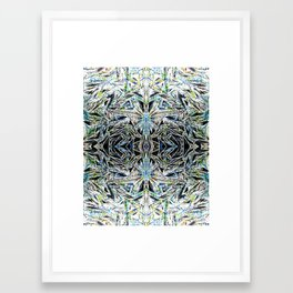 triangles collage Framed Art Print