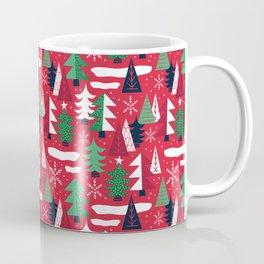 Trees - Xmas Pattern (Red) Coffee Mug