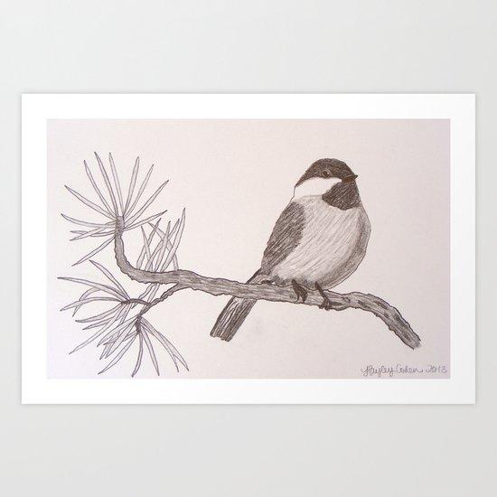 Chicka-dee-dee-dee Art Print