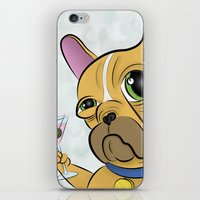 frenchie iPhone & iPod Skins featuring Frenchie by Kandus Johnson