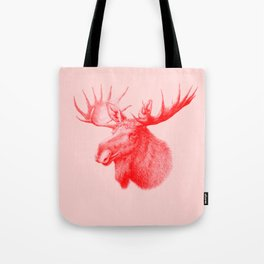Moose red Tote Bag