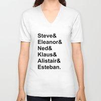 steve zissou V-neck T-shirts featuring Team Zissou by Summie520