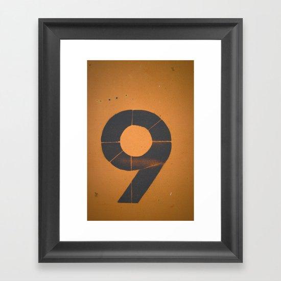 Old Number 9 Framed Art Print