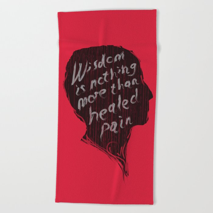 Words of wisdom Beach Towel