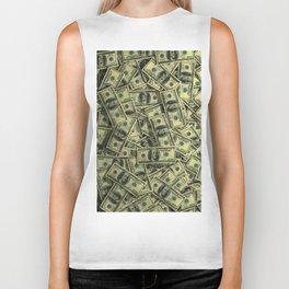 100 dollar cash get rich Biker Tank
