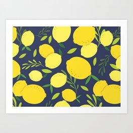 Freshly Picked Lemon Art Print