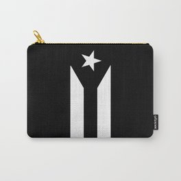 Puerto Rico Black & White Protest Flag Carry-All Pouch