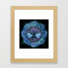 Earth Circle of Light Framed Art Print