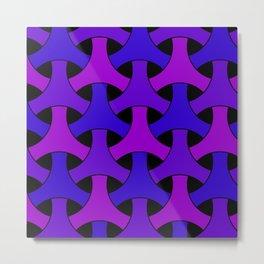 Geometric Design 2 (Purple) Metal Print