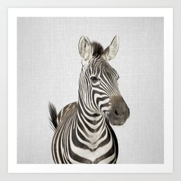 Zebra 2 - Colorful Art Print