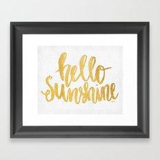 Hello Sunshine by Misty Diller Framed Art Print