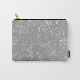 Origami Constellations - geometric animals constellations design - grey Carry-All Pouch
