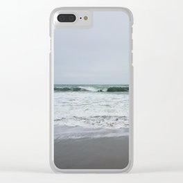 Grey Beach Clear iPhone Case