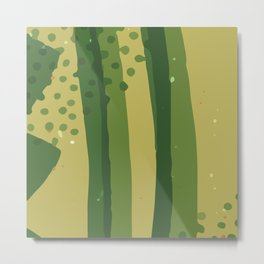 Abstract Modern Contemporary Monochromatic Background in Olive  Green Color GC-118-9 Metal Print