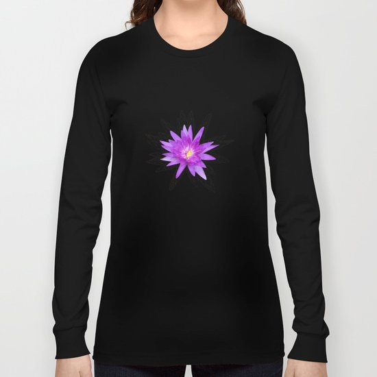 purple lotus flower Long Sleeve T-shirt