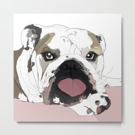 English Bulldog Love Metal Print